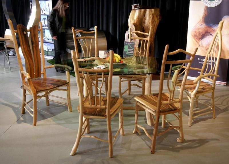 glastisch mit 6 st hlen wohnwerkstatt maier. Black Bedroom Furniture Sets. Home Design Ideas