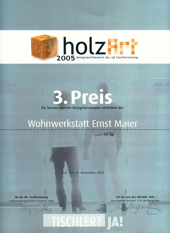 Holzart-Urkunde